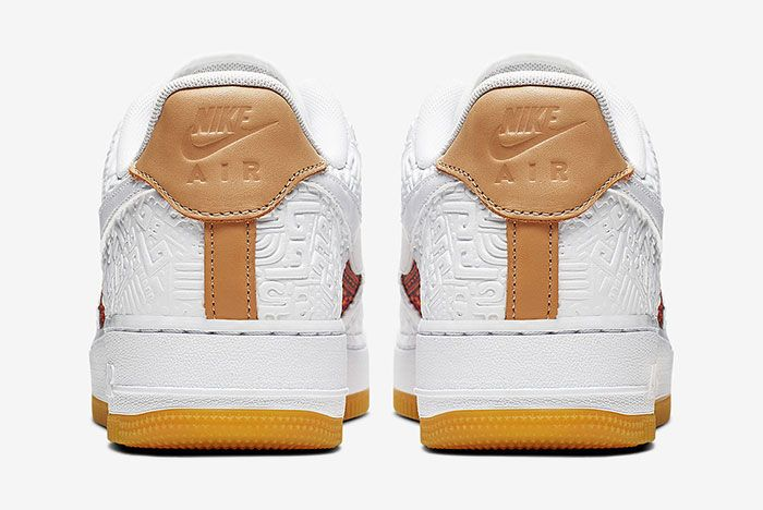 Nike Air Force 1 Aztec Ck6601 100 6 Heel