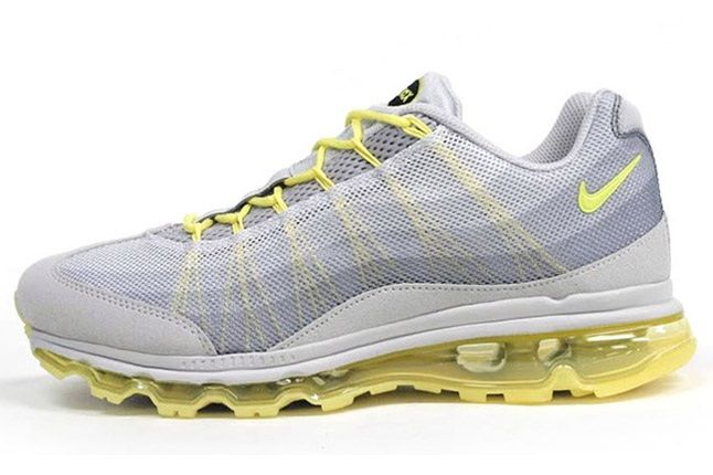Nike Wmns Air Max 95 Dynamic Flywire Yellow Grey Profile 1