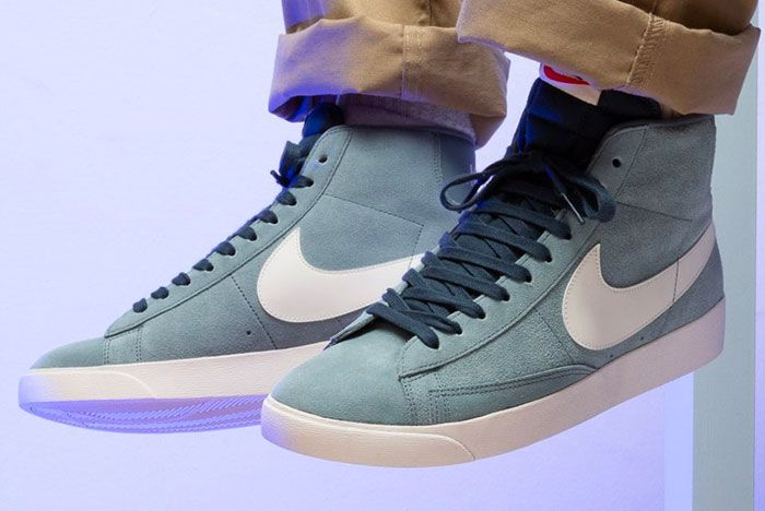Nike Blazer Monsoon Blue On Foot