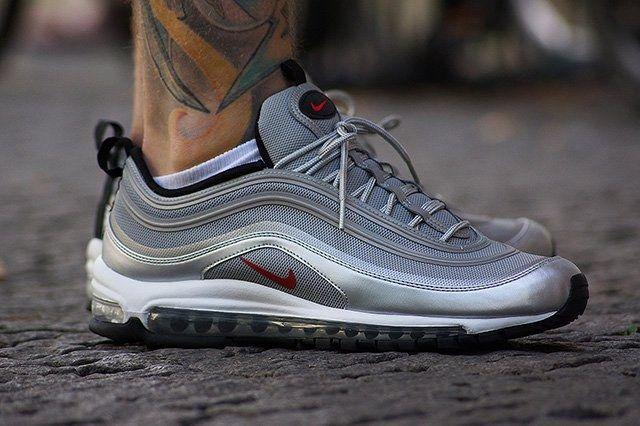 Nike Air Max 97 Premium Tape Qs (Silver Bullet) - Sneaker Freaker