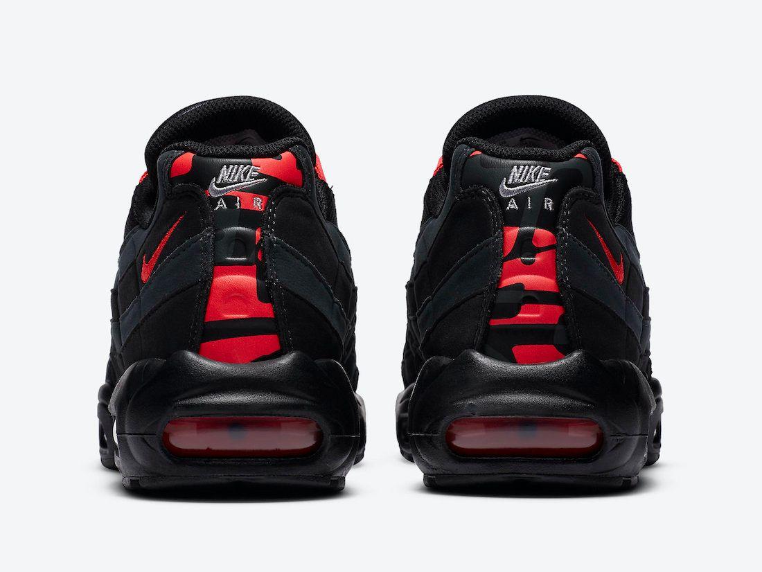 Nike Air Max 95 Laser Crimson Heel