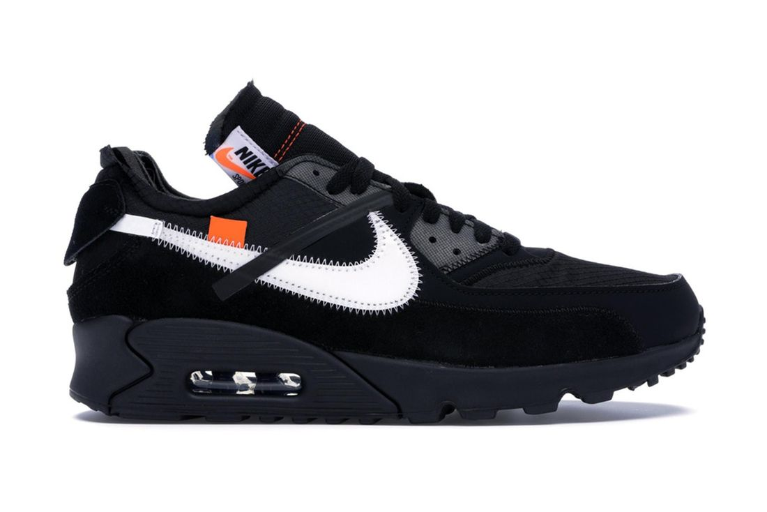 Off White Nike Air Max 90 Black Aa7293 001 Lateral