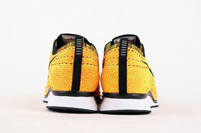 Nike Flyknit Racer Yellow Black 3