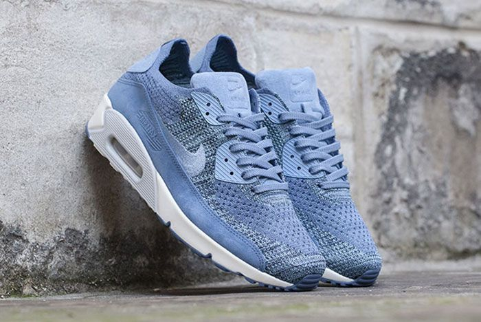 Nikelab Air Max 90 Flyknit Blue 3