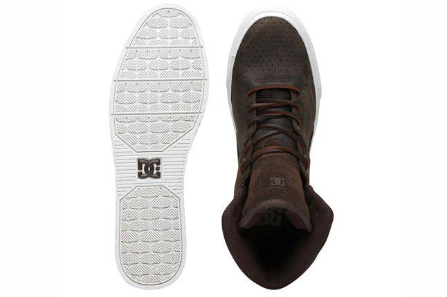 Dc Graduate Brown Leather Footlocker Top Sole 1