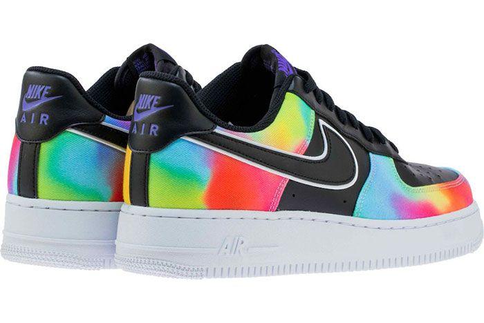 Nike Air Force 1 Low Black Tie Dye Ck0840 001 Release Date 6 Heel