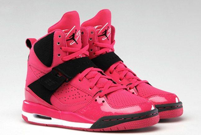 Jordan Flight 45 Hi Premium Vivid Pink Gs 1