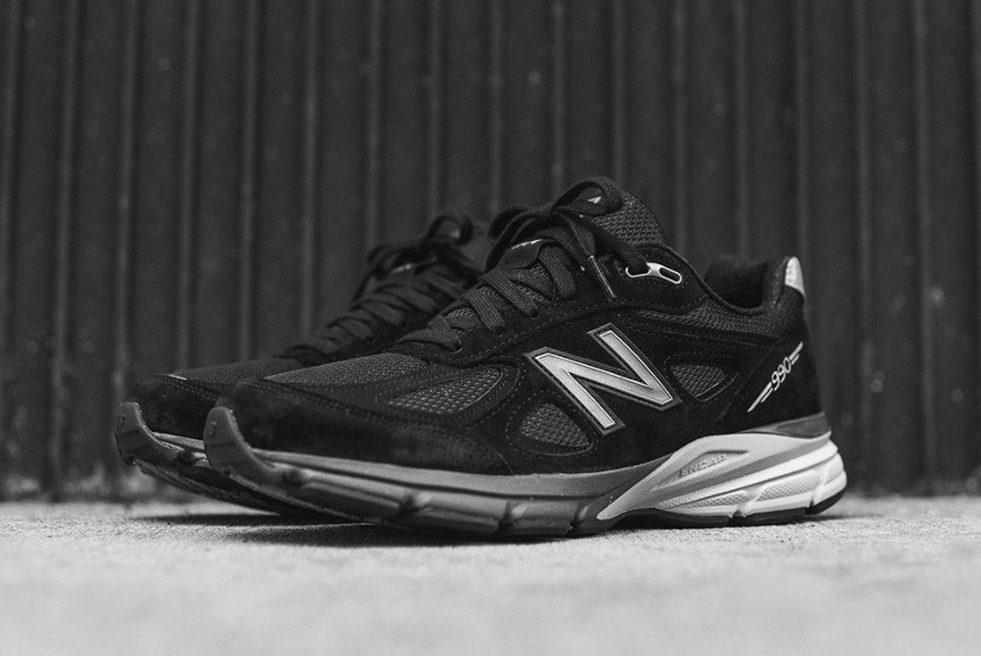 New Balance 990 V4 Black Silver 2