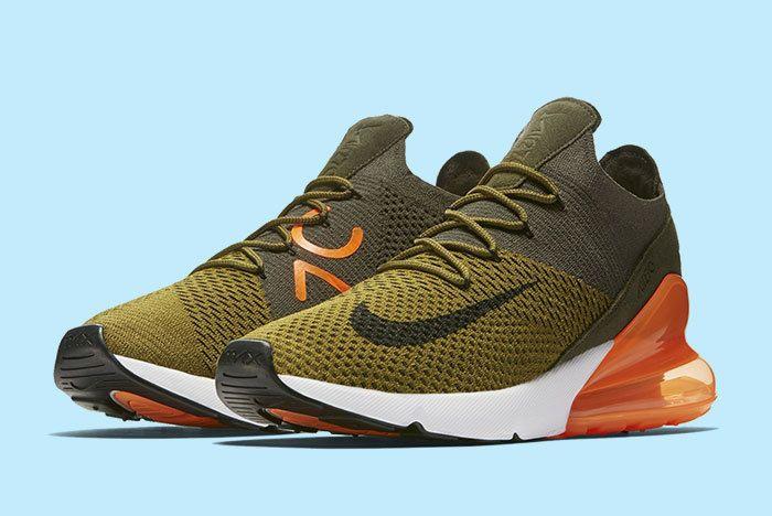 Nike Air Max 270 Green Orange 2