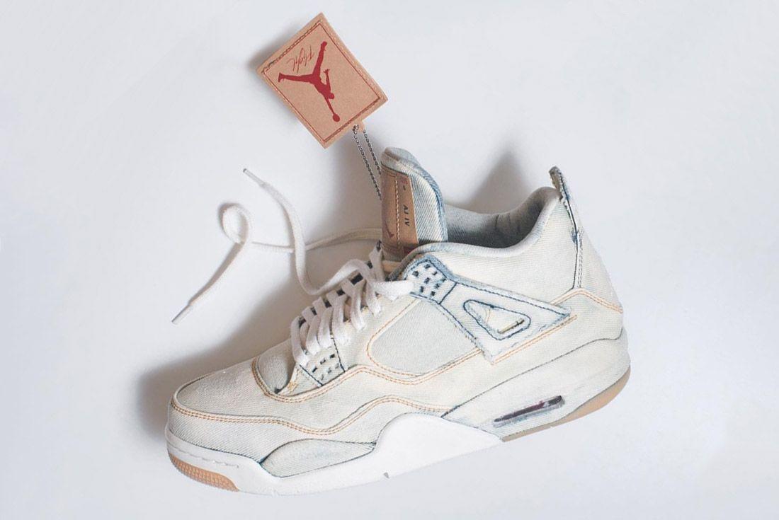 Levis X Air Jordan 4 Bleached Sneaker Freaker 1