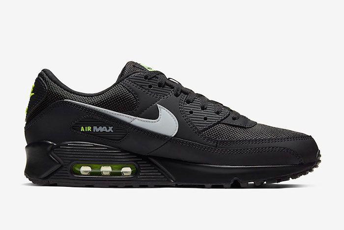 Nike Air Max 90 Black Volt Right
