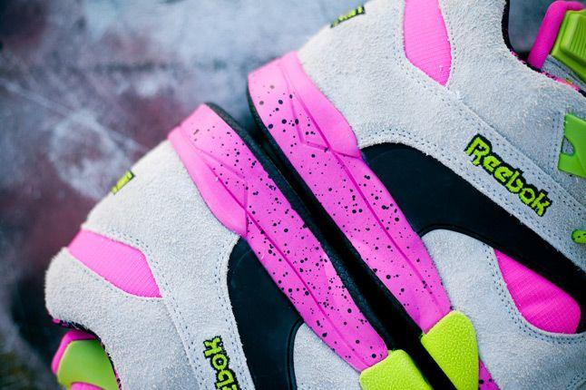 Reebok Omni Lite Pump Grey Feature Sneaker Boutique Heels 1