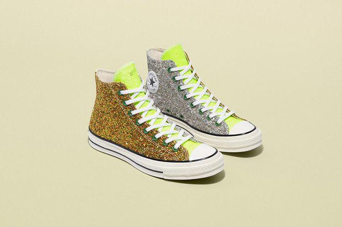 Jw Anderson Converse Chuck 70 Gold Silver Volt Glitter Release Date Pair