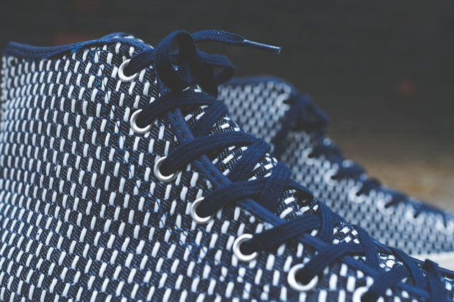 Converse Chuck Taylor All Star Hi Premium Knit Nvy Wht Closeup