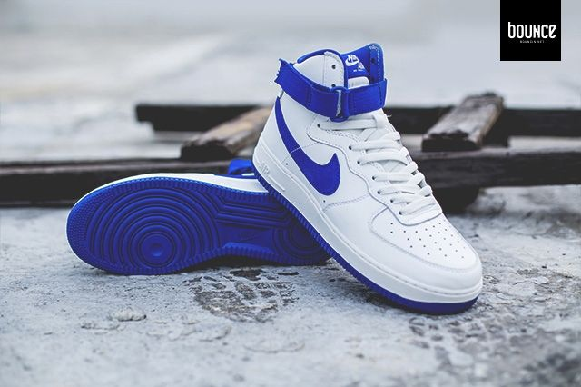 Nike Af1 High Summit White Royal Blue 2