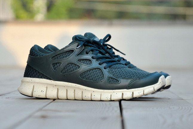 Nike Free Run 2 Woven Leather Tz Profile Green 1
