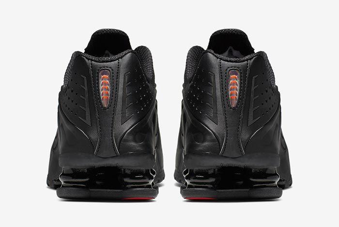 Nike Shox R4 Black Orange Heels
