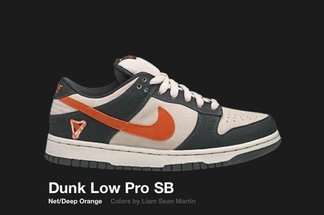 Nike Dunk Low Sb Net Deep Orange 2006 1