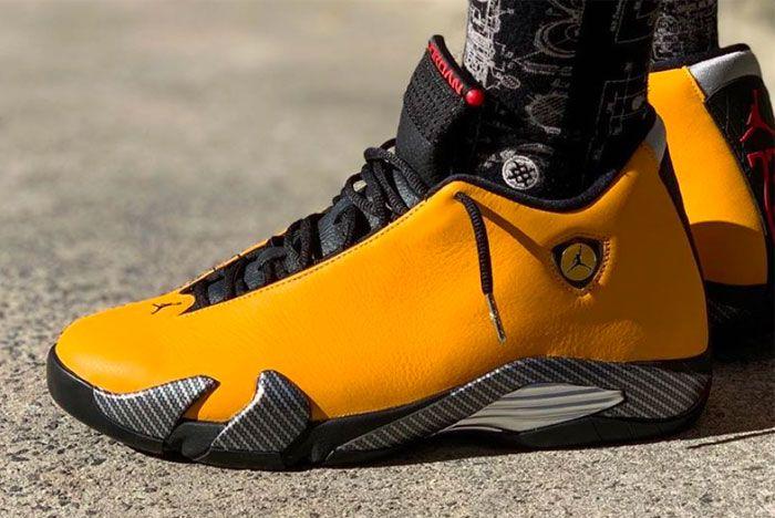 On Foot: Air Jordan 14 'Reverse Ferrari