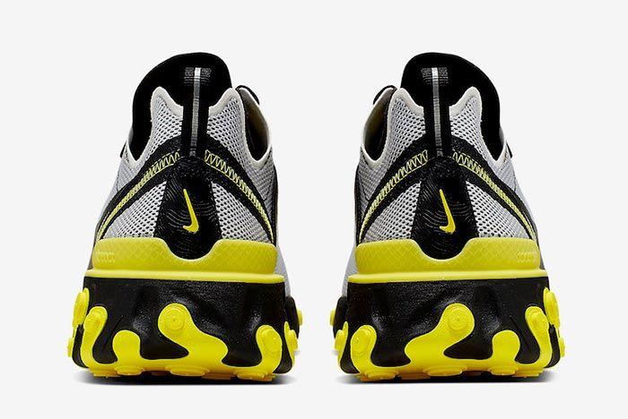 Nike React Element 55 Dynamic Yellow Ck1686 001 Heel Shot