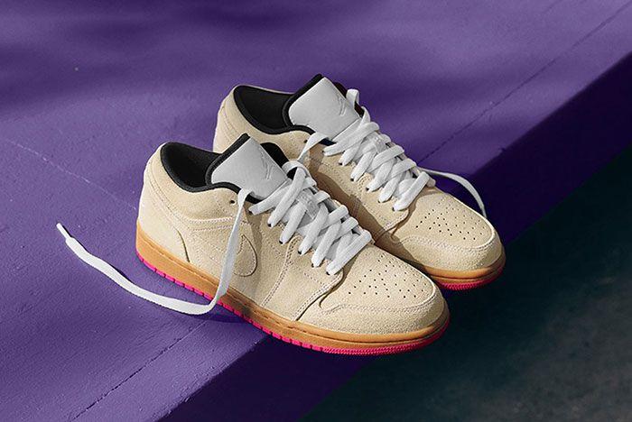 Nike Sb Air Jordan 1 Low Pair Shot3 Suede Gum