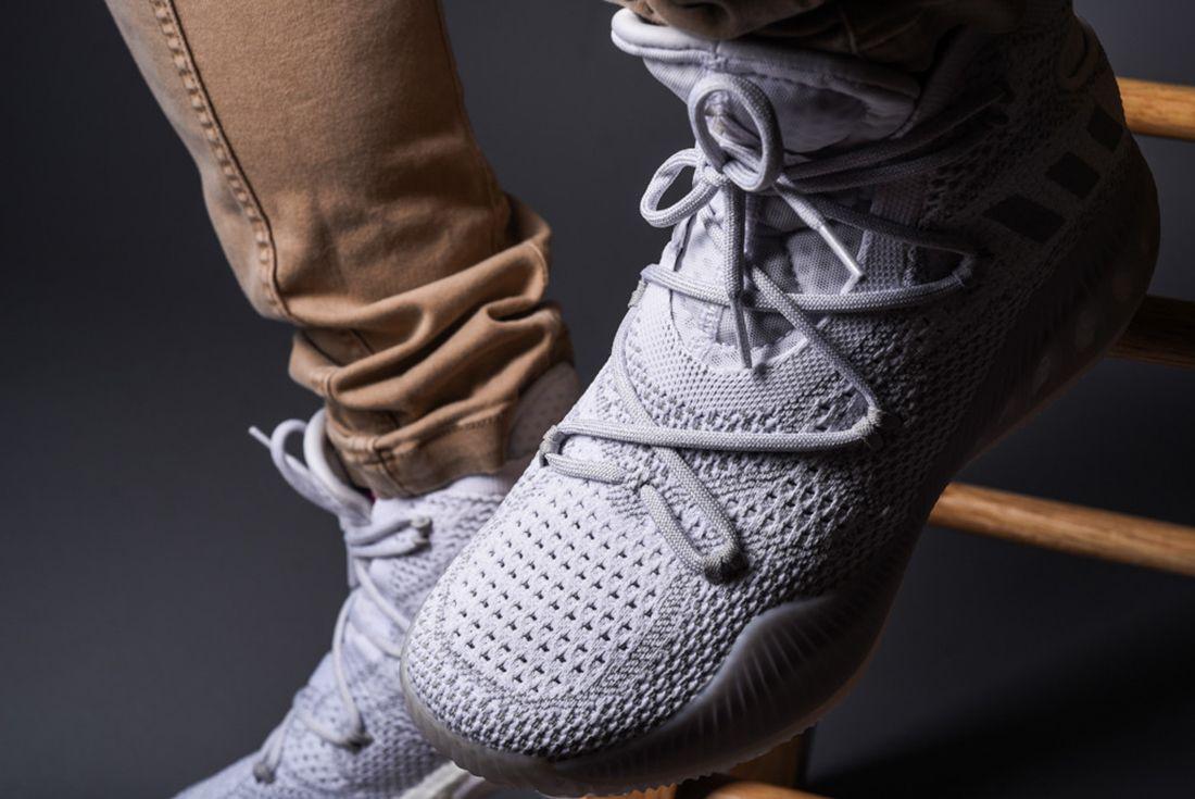 Adidas Crazy Explosive Primeknit Heather Grey 2