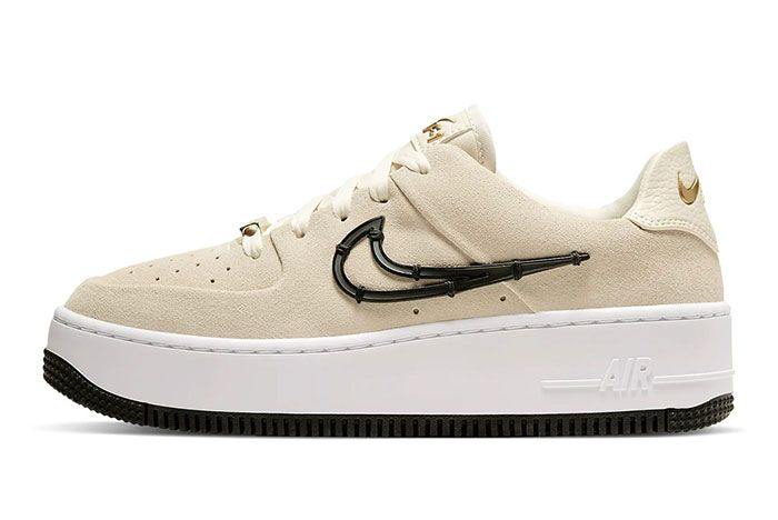 Nike Air Force 1 Sage Low Lx Light Cream Release Ci3482 200 Lateral Side Shot