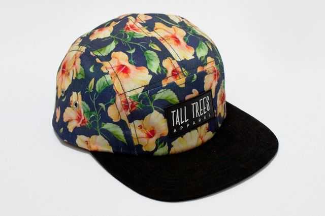 Tall Trees 5 Panel Hibiscus Back