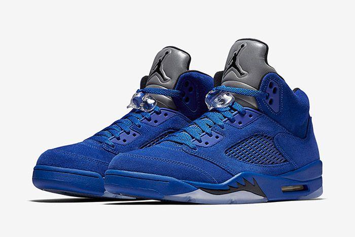 Air Jordan 5 Blue Suede 6