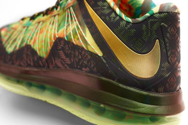 Nike Lebron X Low Backtoback Pack Hero Heel Detail 1