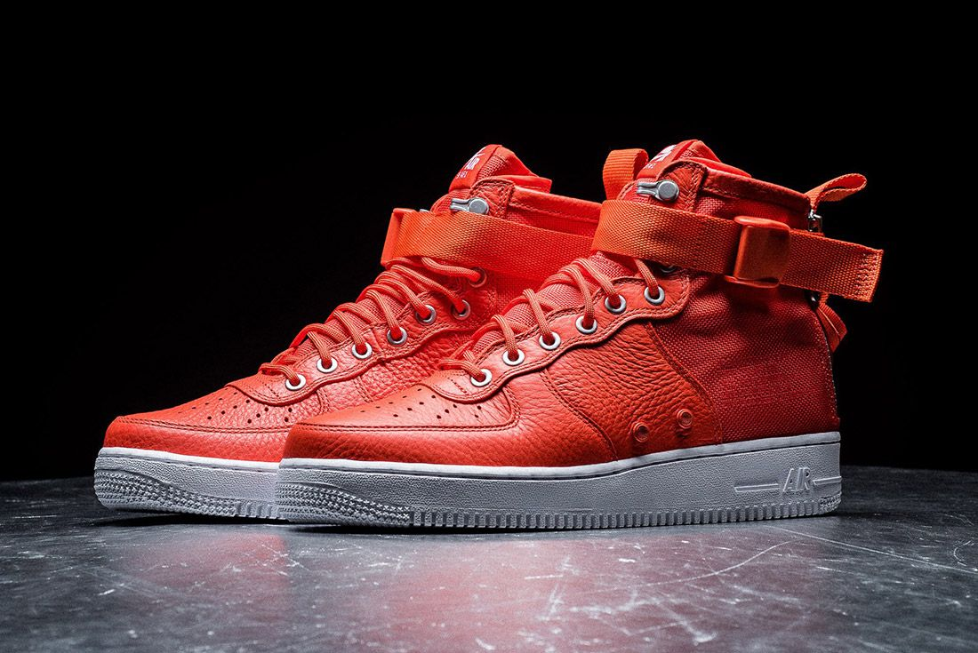 Nike Sf Air Force 1 Orange 6