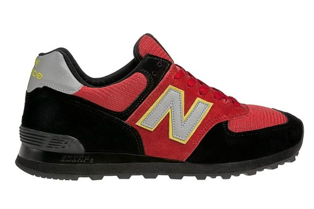 New Balance Race Inspired 574 Red And Black Profile 1