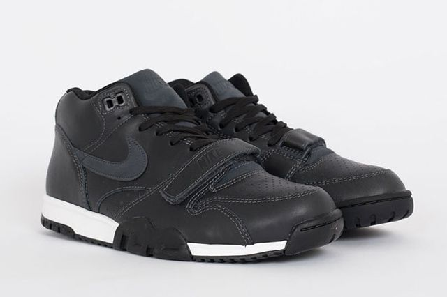 Nike Air Trainer 1 Mid Anthracite Black Leather