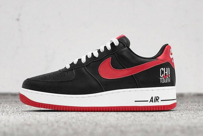 Nike Air Force 1 Low Black Chicago Chi City