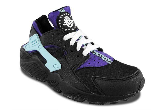 Nike Air Huarache Black Court Purple 5