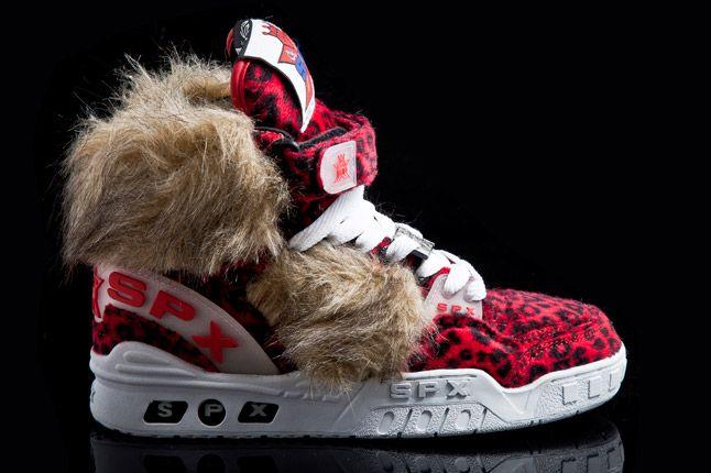 Spx Street Kicks Hi Blk Red Leopard Fur 1 1