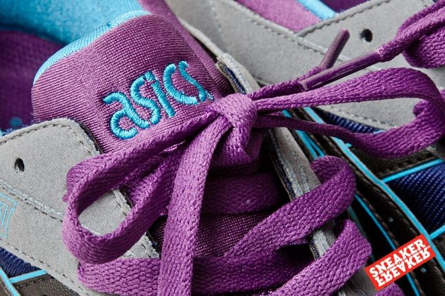 Asics Gel Lyte V Grey Purple Blue 3 Lace Detail 1