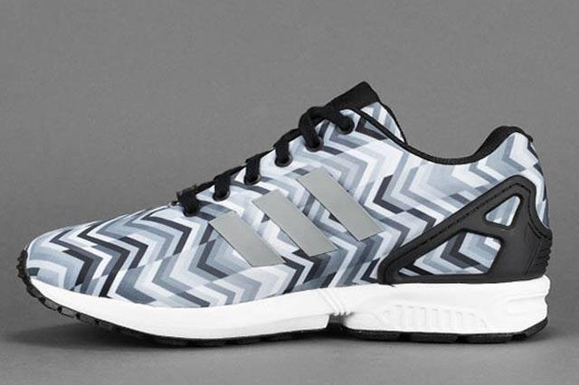 Adidas Zx Flux Grey Chevron 2