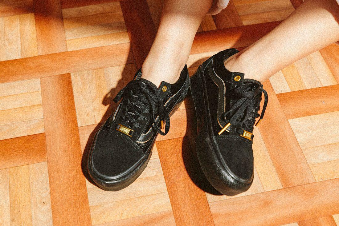 Vans Black Gold Pack 28Jd Sports Exclusive On Foot