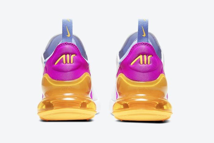 Nike Air Max 270 White Orange Pink Blue Yellow Heels