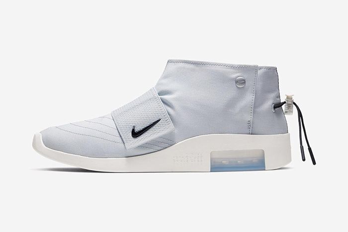 Nike Air Fear Of God Moccasin Pure Platinum Official Releae Date Side Profile