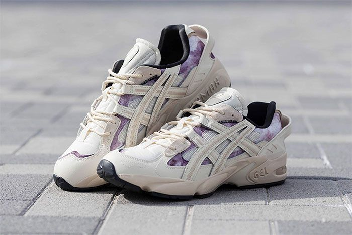 Asics Gel Kayano 5 Re Beige Three Quarter Lateral Side Shot