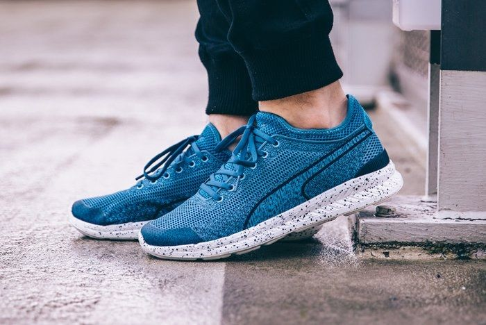 Puma Ignite Sock Woven Blue Heaven Feature