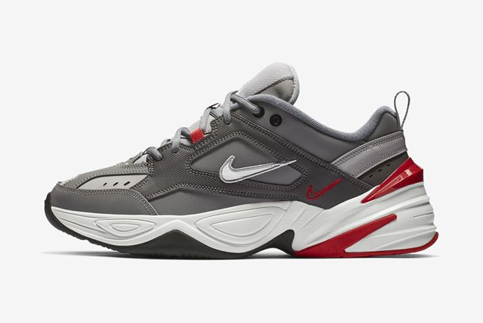 Nike M2K Tekno Gunsmoke Natural Heather University Red 2
