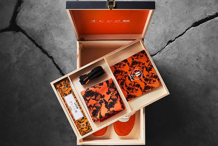 Afew X Beams X Asics Gel Lyte Iii Orange Koi Special Box
