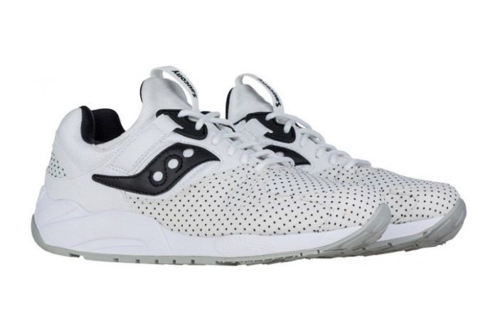 Saucony Grid 9000 Micro Dot White 2