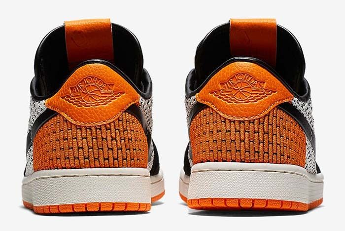 Air Jordan 1 Low Flyknit Shattered Backboard Starfish Sail Black White 2 Sneaker Freaker