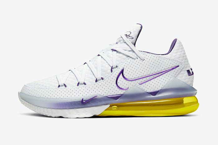 Nike Le Bron 17 Low Lakers Home Cd5007 102 Lateral