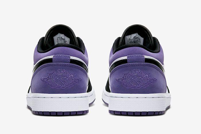 Air Jordan 1 Low Court Purple 553558 125 2019 Release Date 5 Heel