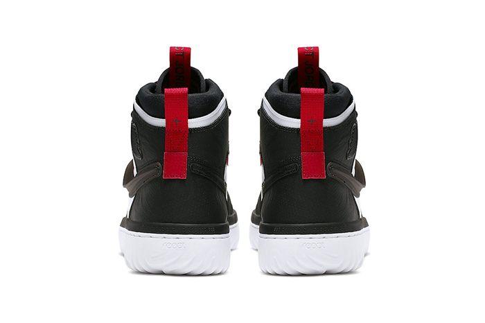 Air Jordan 1 React White Black Red Ar5321 016 Release Date Heel
